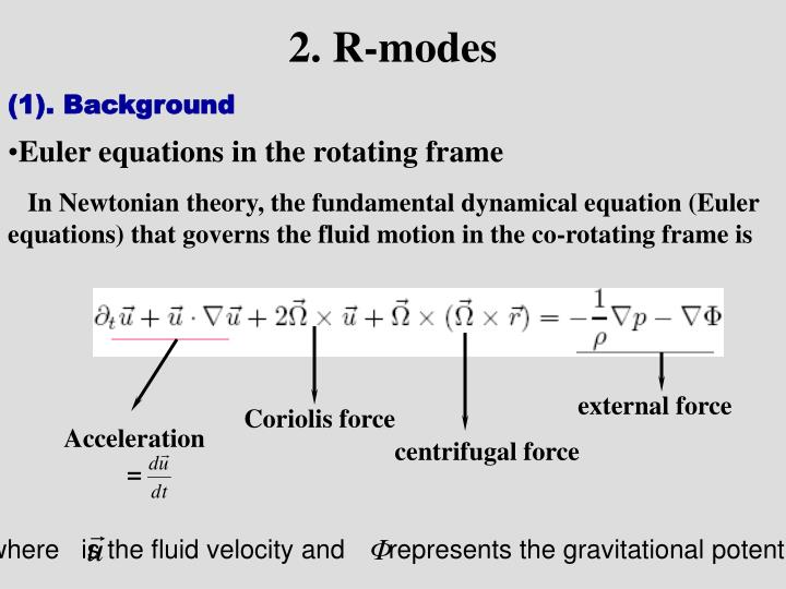 2. R-modes