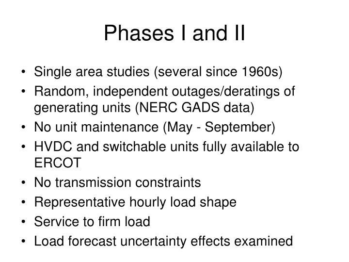 Phases i and ii