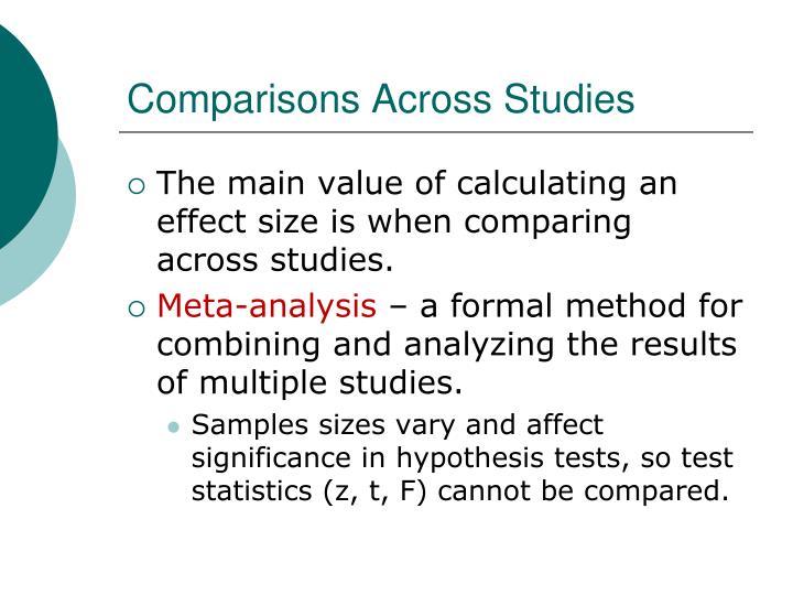 Comparisons Across Studies