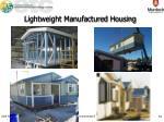 lightweight manufactured housing