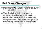 pell grant changes