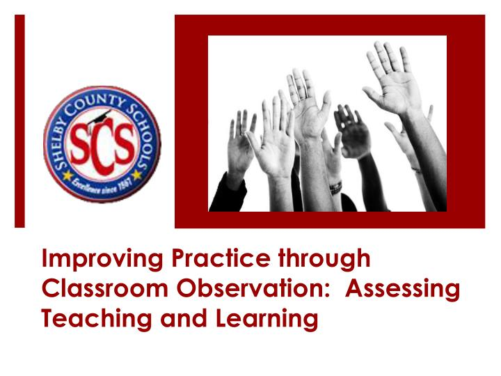 enhancing teaching and learning practices in malaysia Recently published articles from teaching and teacher education science teachers' conceptions of teaching and learning teaching practices.