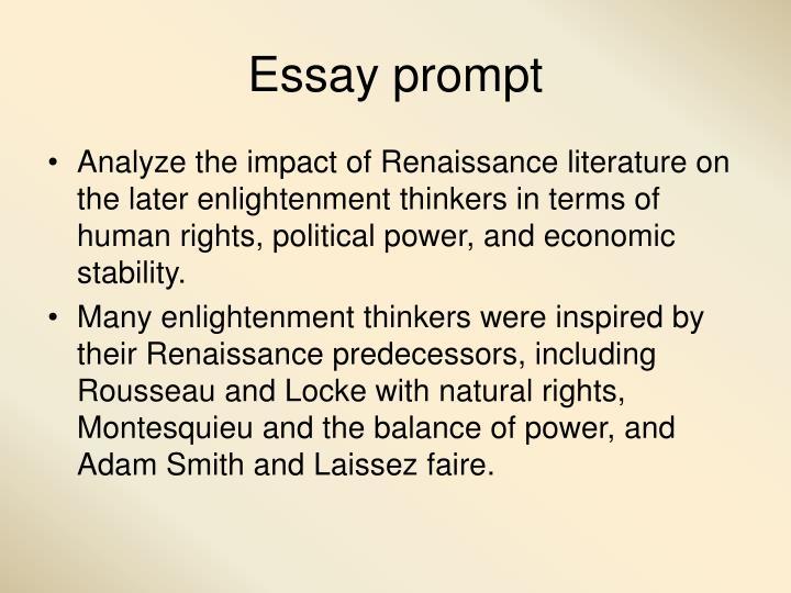Essay prompt