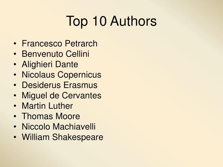 Top 10 Authors