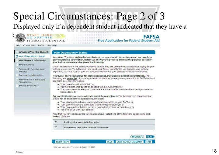 Special Circumstances: Page 2 of 3