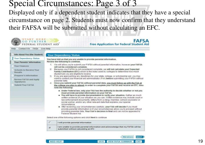 Special Circumstances: Page 3 of 3