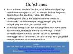 15 yohanes