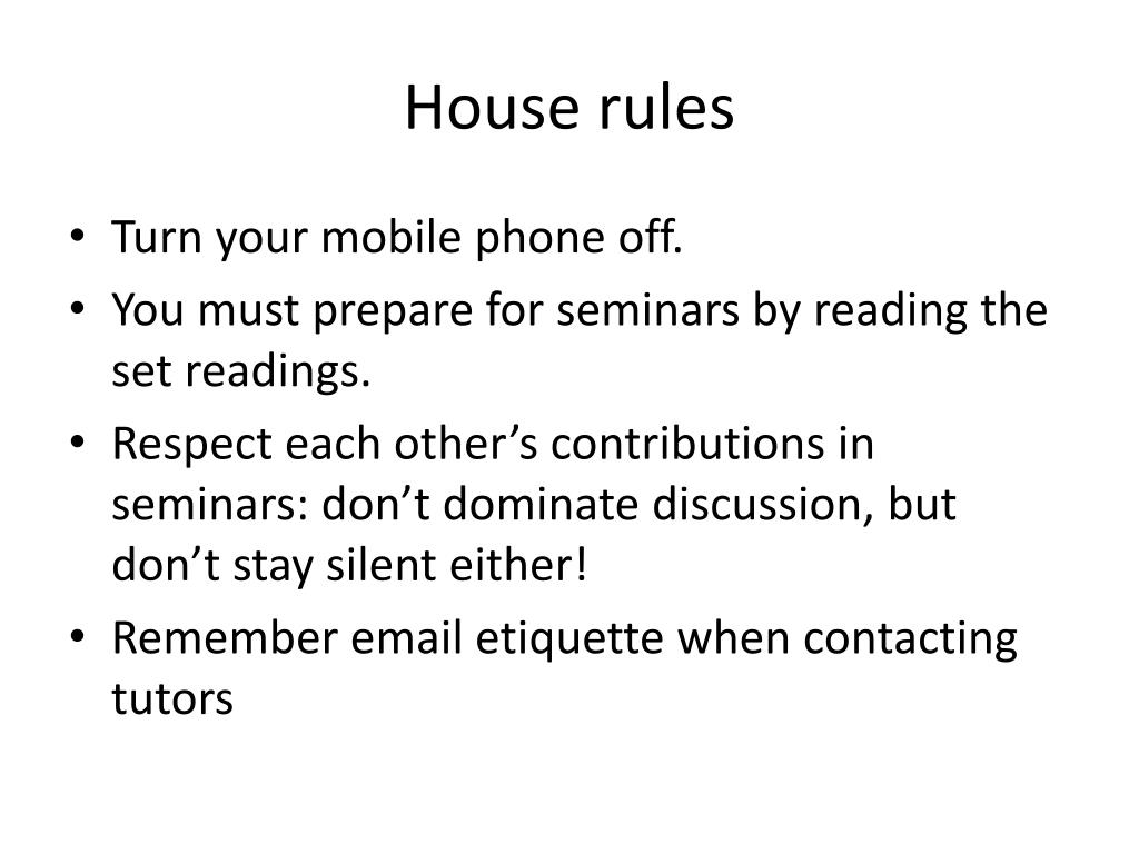 ppt house rules powerpoint presentation id 4116616