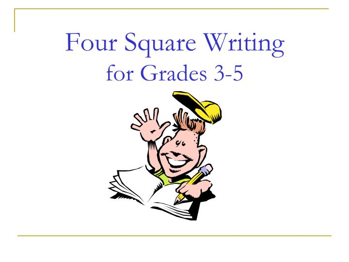 four square writing for grades 3 5 n.