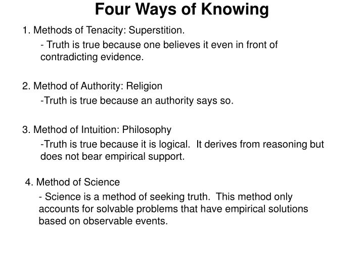 four ways of knowing n.