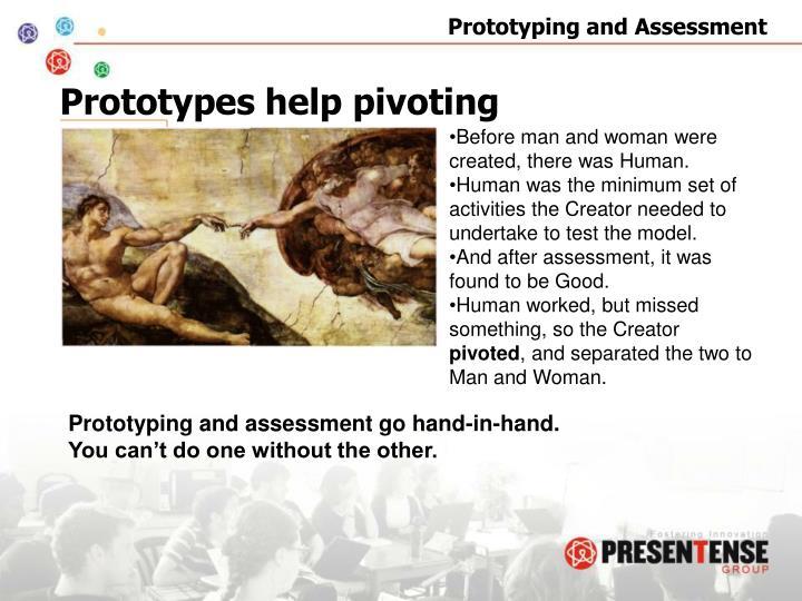 Prototypes help pivoting