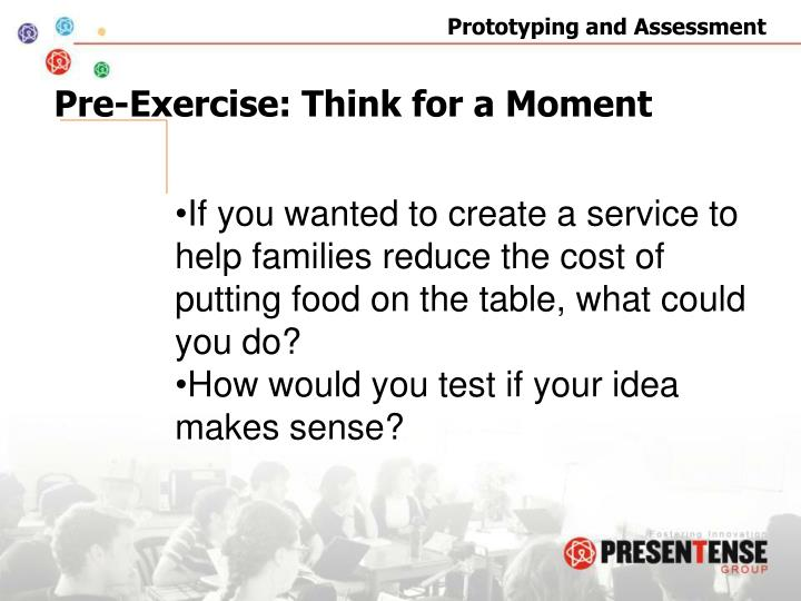 Pre-Exercise: Think for a Moment