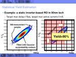 statistical yield estimation1
