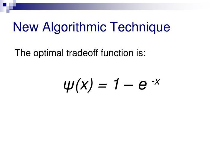 New Algorithmic Technique