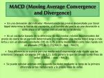 macd moving average convergence and divergence
