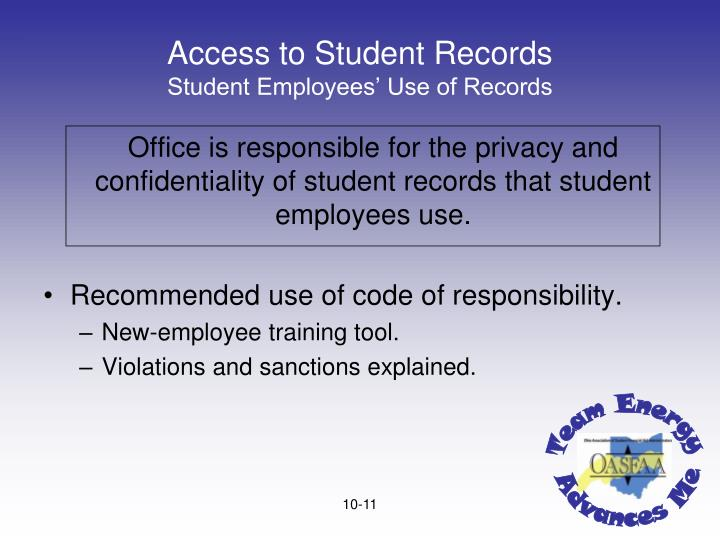 Access to Student Records