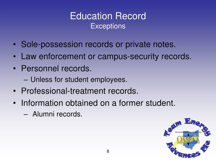 Education Record
