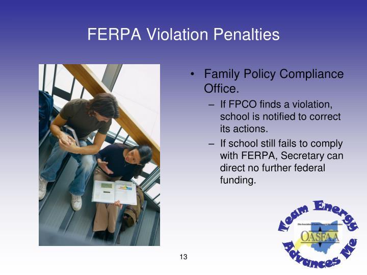 FERPA Violation Penalties