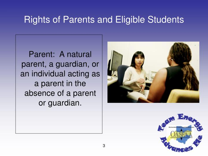 Rights of Parents and Eligible Students