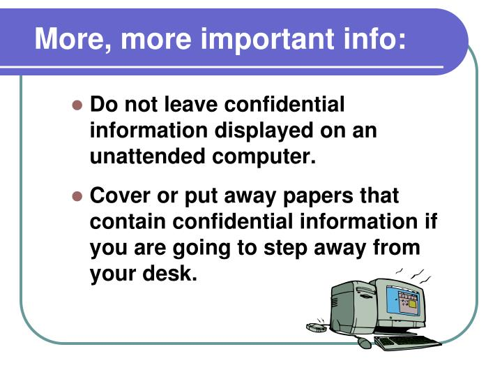 More, more important info: