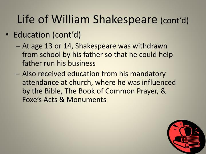 Life of William Shakespeare