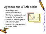 agendas and star books