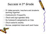 success in 1 st grade