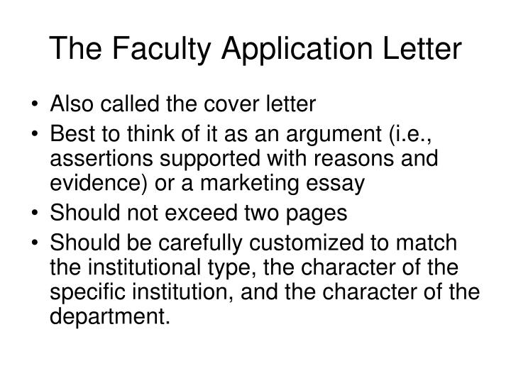 PPT The Faculty Application Letter PowerPoint Presentation ID