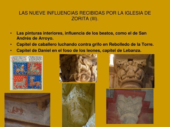 LAS NUEVE INFLUENCIAS RECIBIDAS POR LA IGLESIA DE ZORITA (III).