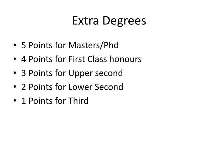 Extra Degrees