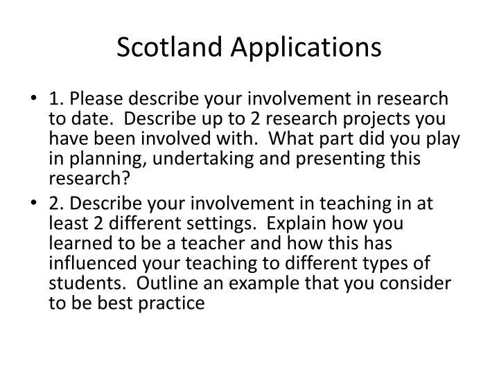 Scotland Applications