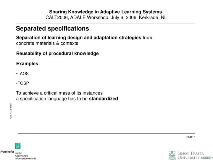 Ppt Sharing Knowledge In Adaptive Learning Systems Powerpoint