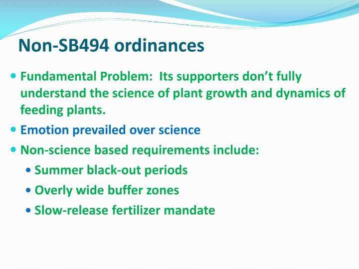 Non-SB494 ordinances