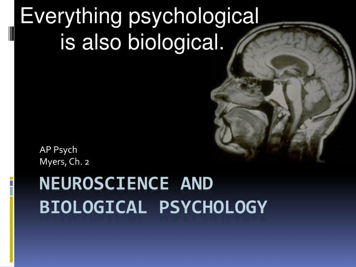PPT Neuroscience And Biological Psychology PowerPoint