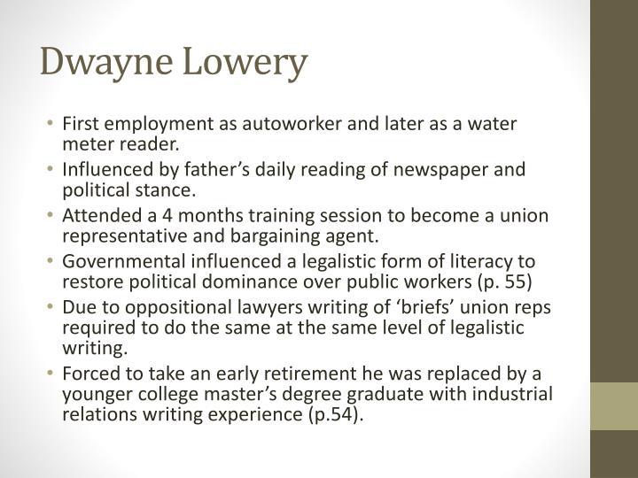 Dwayne Lowery