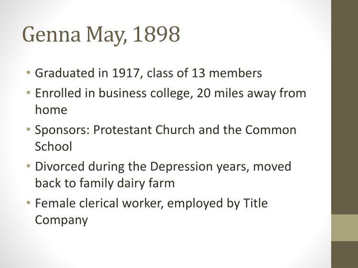 Genna May, 1898