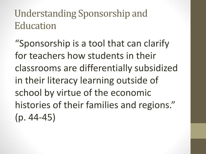 Understanding Sponsorship and