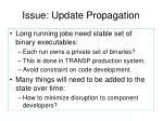 issue update propagation