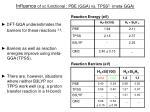 influence of xc functional pbe gga vs tpss 2 meta gga