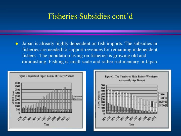Fisheries Subsidies cont'd