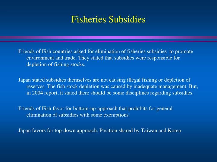 Fisheries Subsidies