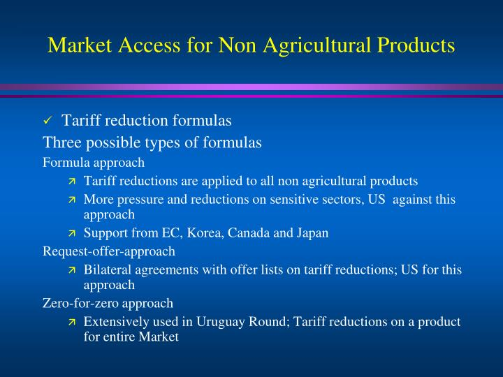 Market Access for Non Agricultural Products