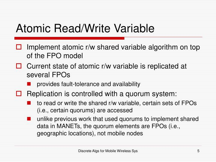 Atomic Read/Write Variable