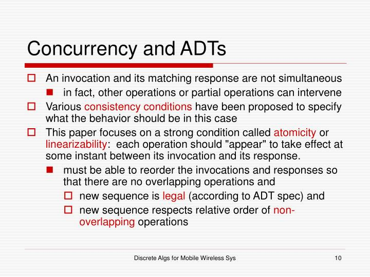 Concurrency and ADTs