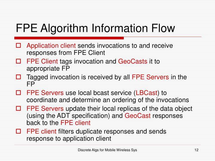 FPE Algorithm Information Flow