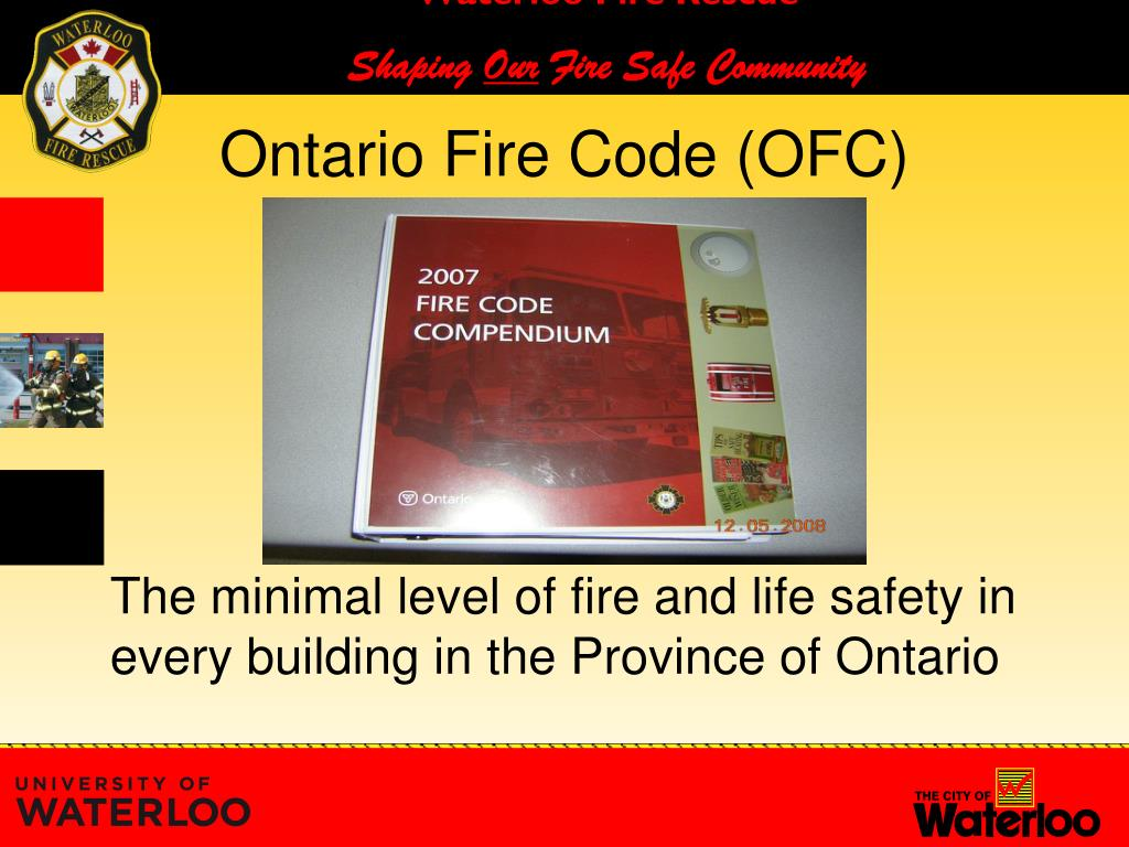 PPT - uWaterloo Ontario Fire Code Requirements - Assembly