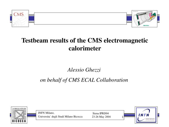 testbeam results of the cms electromagnetic calorimeter n.