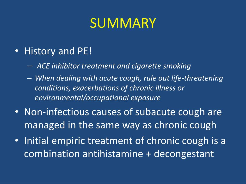 PPT - CHRONIC COUGH PowerPoint Presentation - ID:4118989