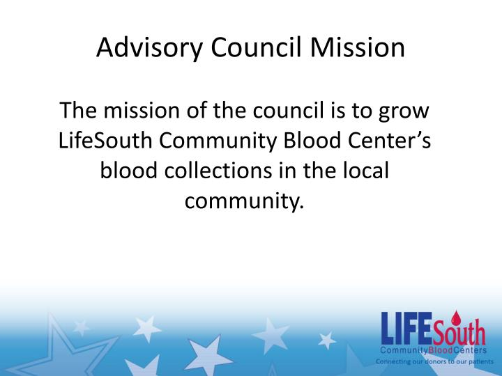 Advisory Council Mission