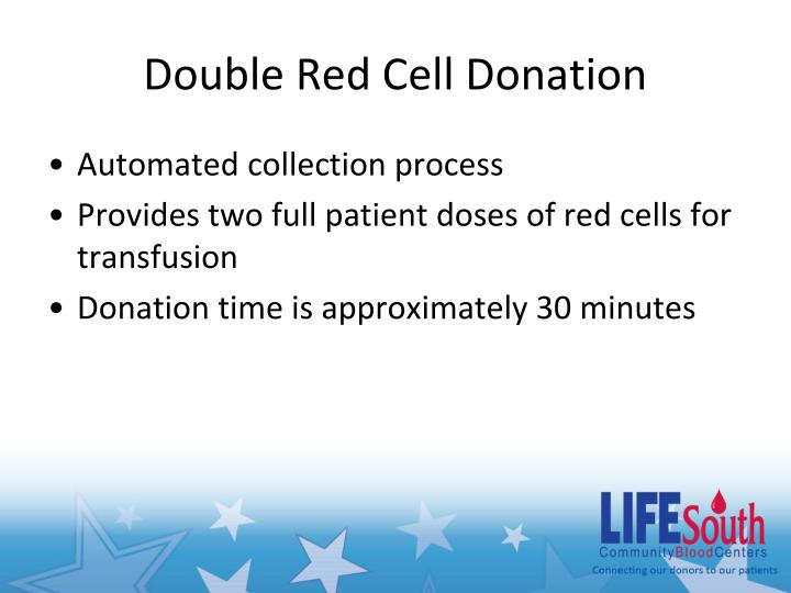 Double Red Cell Donation